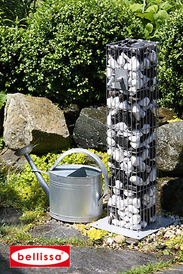 Un robinet de jardin en gabion pour une d coration for Decoration jardin gabion